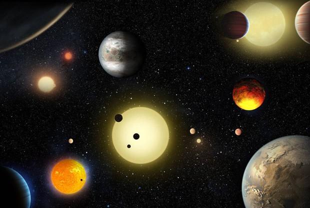 Reprodução artística da descoberta feita pelo telescópio espacial Kepler da NASA. (Foto: NASA/W. Stenzel)