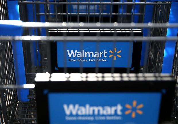 walmart, carrinho de supermercado (Foto: Justin Sullivan/Getty Images)