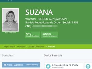 Candidata a vereadora é presa em Ribeiro Gonçalves, no Sul do Piauí (Foto: Divulgação/tse.jus.br)
