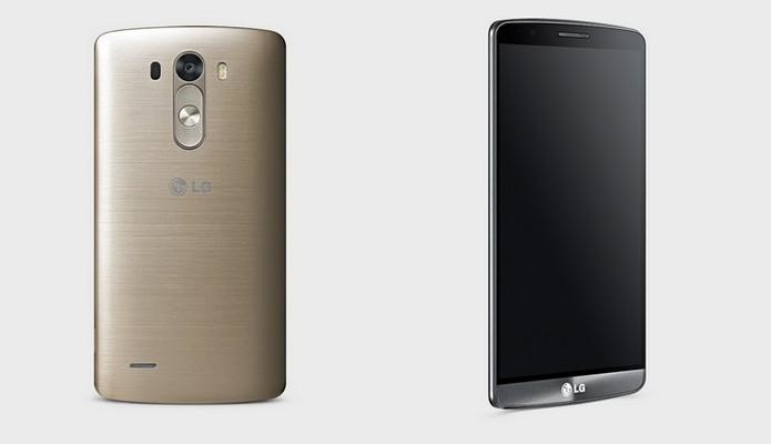Frente e traseira do LG G3 original (Foto: Divulgação/LG)
