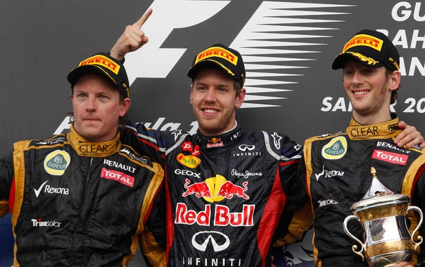 Vettel Raikkonen Grosjean GP de Bahrein (Foto: Getty Images)
