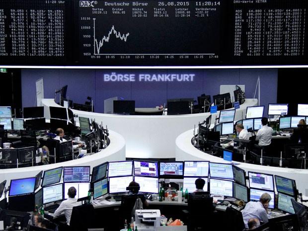 Índice Dax, de Frankfurt, Alemanha, abriu o pregão desta quarta-feira (26) em queda  (Foto: Reuters)