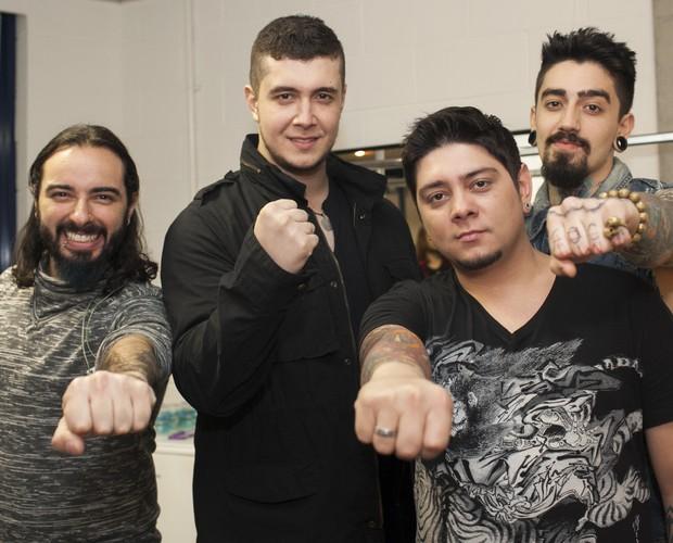 Malta comemora o sucesso da banda em cerca de seis meses de existência (Foto: Dafne Bastos / TV Globo)