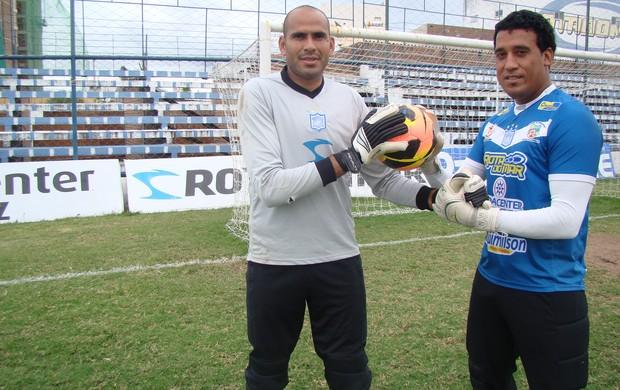 Goleiros do Ypiranga para o Pernambucano 2014 (Foto: Vital Florêncio / GloboEsporte.com)