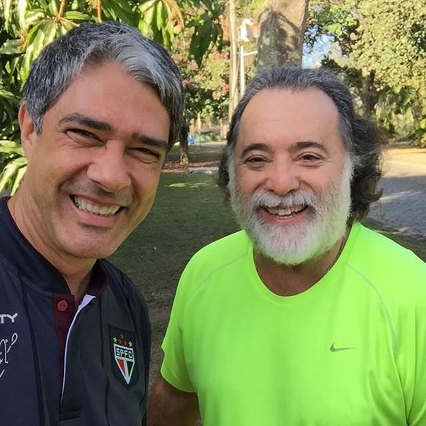 William Bonner e Tony Ramos (Foto: Reprodução/ Instagram)