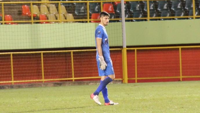 Lucas Covolan, goleiro Rio Branco-AC (Foto: Duaine Rodrigues)