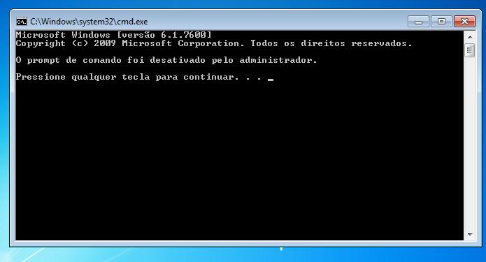 Aprenda a desativar o Prompt de comando no Windows (Foto: Reprodução/Edivaldo Brito)