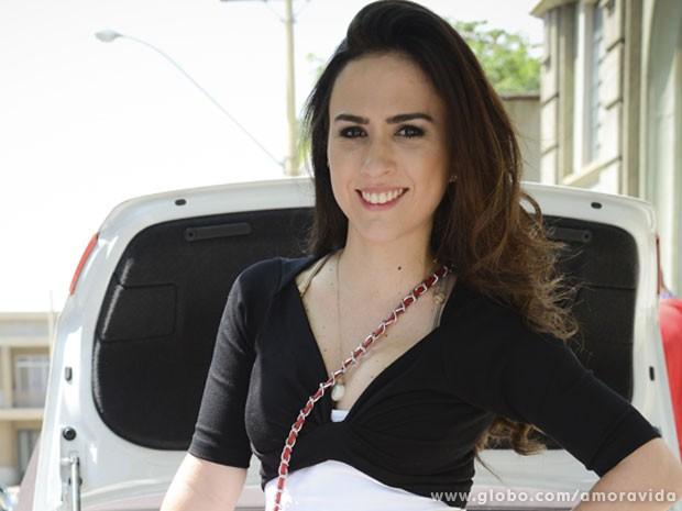 Valdirene finalmente consegue ficar famosa (Foto: TV Globo / Divulgação)