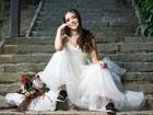 Anna Rita Cerqueira posa de noiva em ensaio: 'Acredito no amor para sempre'