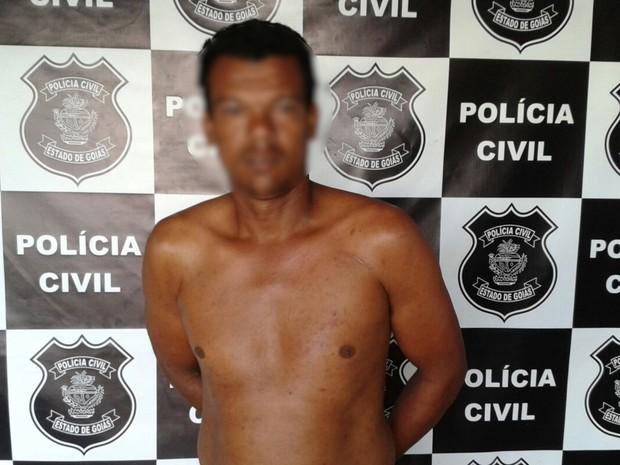 Homem de 32 anos é preso suspeito de agredir a mãe em Bom Jesus de Goiás  (Foto: Reprodução/TV Anhanguera)