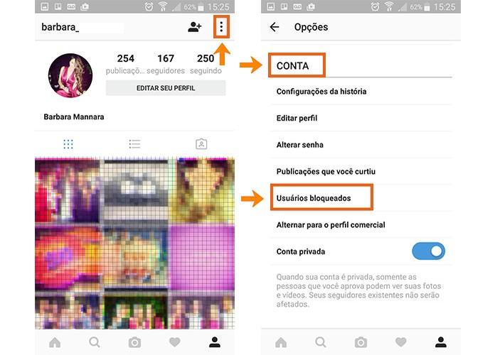 Encontre a lista de pessoas bloqueadas no seu perfil do Instagram (Foto: Reprodução/Gabrielle Lancellotti)