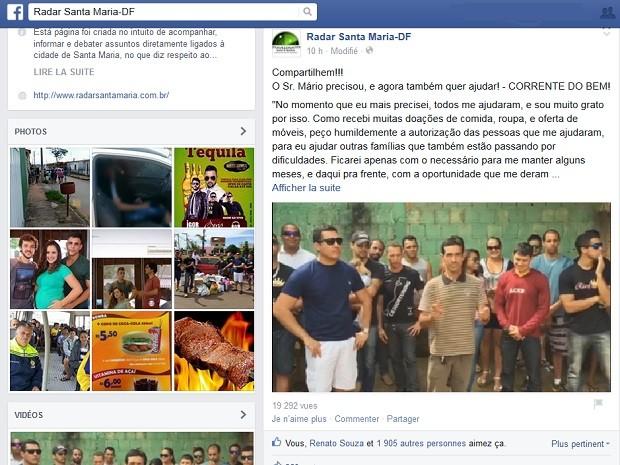 77978fe59 Publicação em rede social fala sobre campanha para repassar excedentes de  doações a homem que furtou