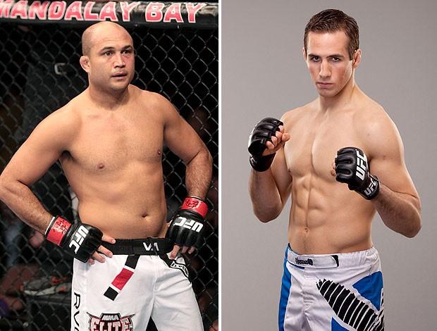 montagem UFC BJ Penn x Rory MacDonald (Foto: Editoria de Arte)