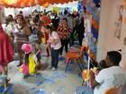 Festa é feita em hospital para crianças em tratamento, em Porto Velho