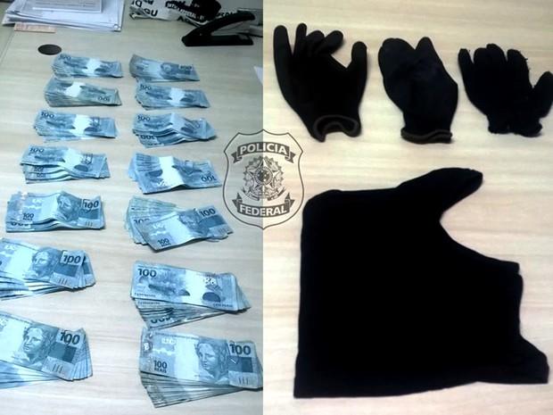 Na casa da filha do homem, foram apreendidos R$ 27 mil e documentos falsos (Foto: Divulgação/PF)