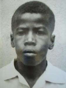 O aluno Joaquim Barbosa, aos 14 anos (Foto: Reprodução / Cíntia Acayaba / G1)