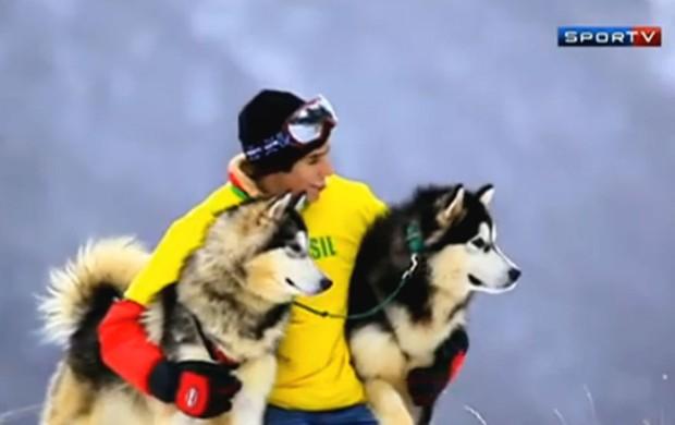 Julio Casares, brasileiro, campeão sul-americano de sled dog (Foto: Reprodução SporTV)