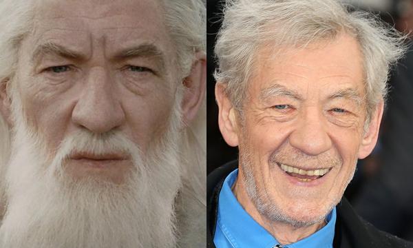 Sir Ian McKellen como Gandalf e atualmente (Foto: Divulgação)
