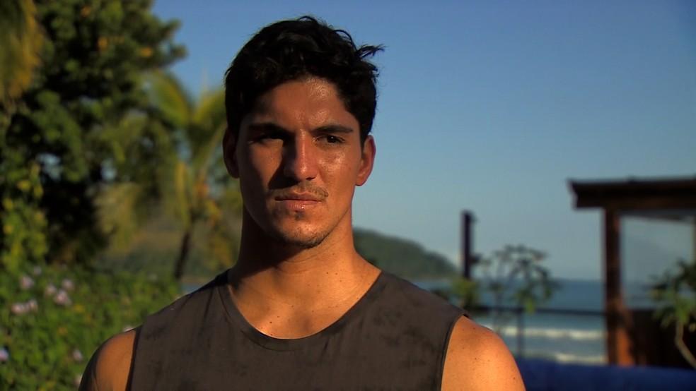 Gabriel Medina está em São Sebastião se preparando para a etapa do Rio (Foto: Reprodução/TV Vanguarda)