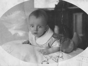 Rubem Alves com 3 meses de idade (Foto: Instituto Rubem Alves)