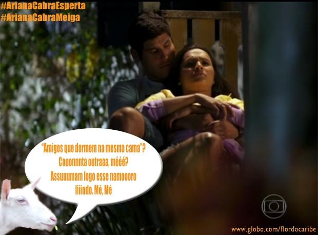 Isabel e Amadeu (Foto: Flor do Caribe/TV Globo)