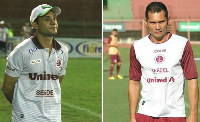 Rossato e Léo Oliveira irão dividir funções na Desportiva, durante a Série D e a Copa Espírito Santo (Foto: Montagem/GE)