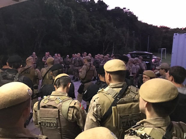 50 policias foram mobilizados para operação nesta manhã (Foto: PM/Divulgação)