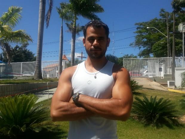 Personal Netinho comanda o quadro Desafio Personal (Foto: Nicole Melhado / Inter TV MG)