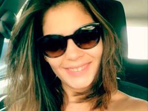 Poliana conta que 'deu sorte' pelo tiro ter sido só de raspão (Foto: Poliana de Lima/Arquivo Pessoal)