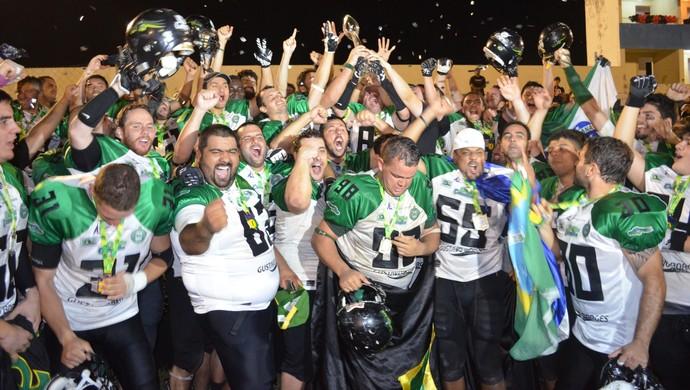 João Pessoa Espectros 14 x 23 Coritiba Crocodiles, final do Campeonato Brasileiro de Futebol Americano (Foto: Amauri Aquino / GloboEsporte.com/pb)