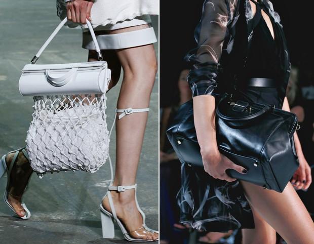 Bem esportiva com duas partes independentes foi o modelo de Alexander Wang, enquanto Jason Wu exibiu um modelo mais clássico estilo doctor bag (Foto: Reprodução)