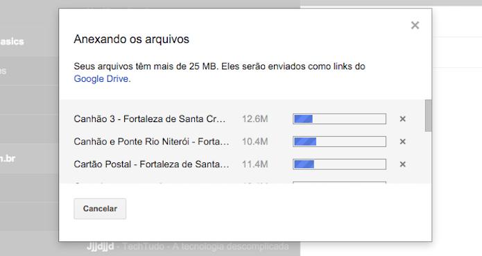 Criando links do Google Drive para arquivos com mais de 25 MB enviados pelo Gmail (Foto: Reprodução/Marvin Costa)