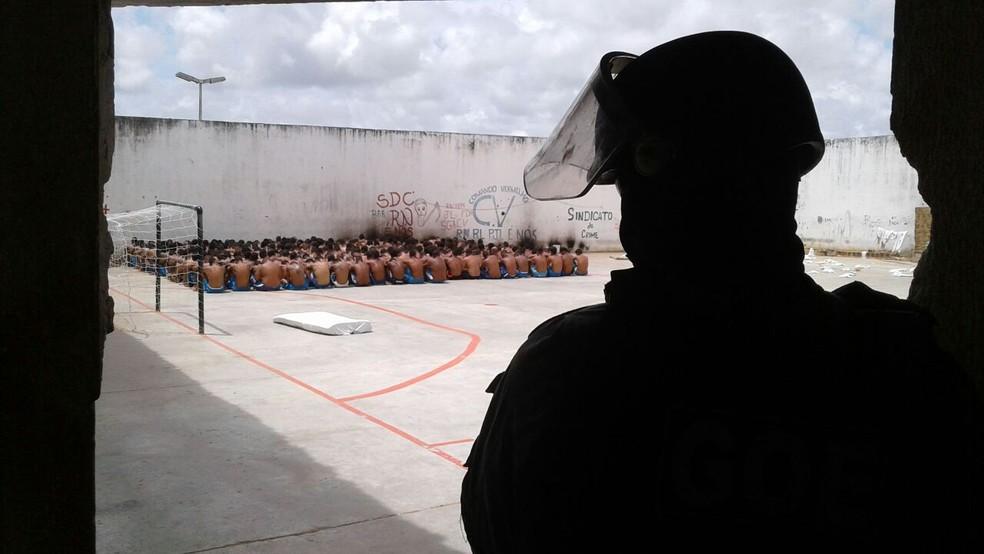 Após concurs,o agentes reforçarão segurança nas penitenciárias do estado  (Foto: Divulgação/Sejuc)