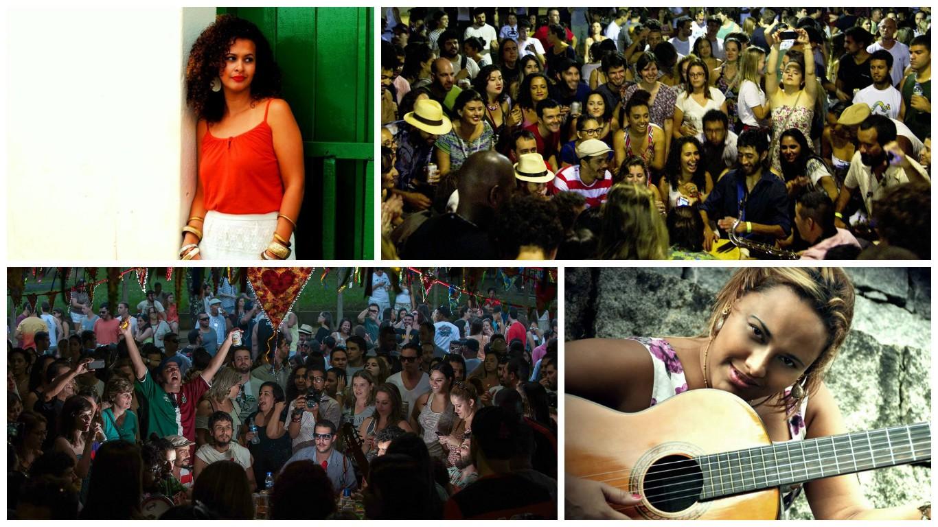 Algumas atrações do Circuito do Samba (Foto: Divulgação/ TV Gazeta)