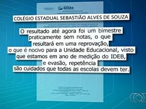 Escolas estaduais são suspeitas de expulsar alunos para melhorar Ideb em Goiânia (Foto: Reprodução/TV Anhanguera)