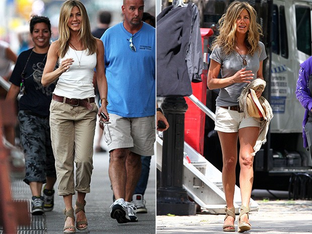 Jennifer Aniston - sandália 2009 (Foto: Getty Images)