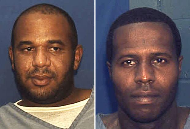 Fotos mostram Joseph Jenkins e Charles Walker, dois criminosos condenados que foram soltos na Flórida após o uso de documentos falsos (Foto: Florida Department. of Corrections/AP)