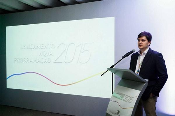 Gerente de programação da TV Integração de Uberlândia, Rafael Occhi, falou sobre as novidades para 2015 (Foto: Mauro Marques)