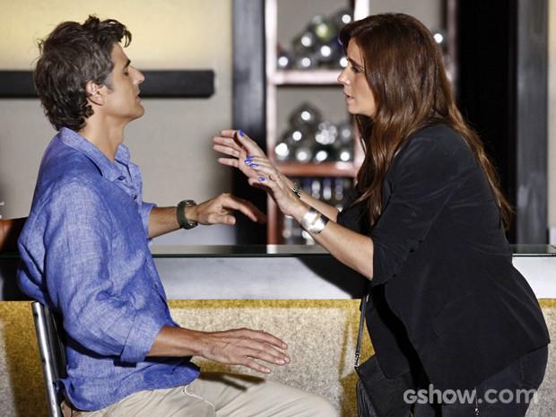 Clara fala em separação depois de tentar se reconciliar com Cadu (Foto: Inácio Moraes/ TV Globo)