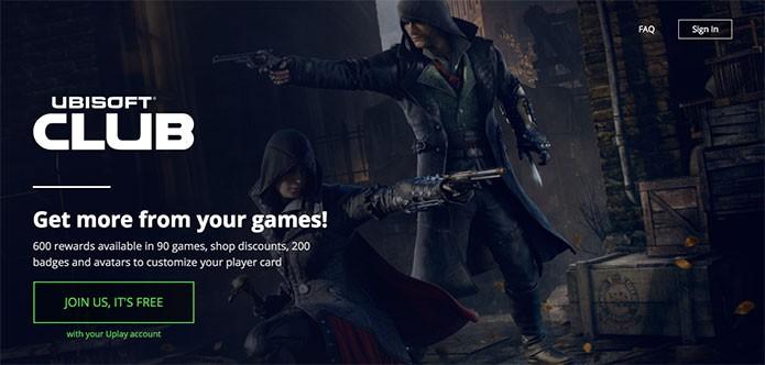 Ubisoft Club permite resgatar recompensas (Foto: Reprodução/Felipe Vinha)
