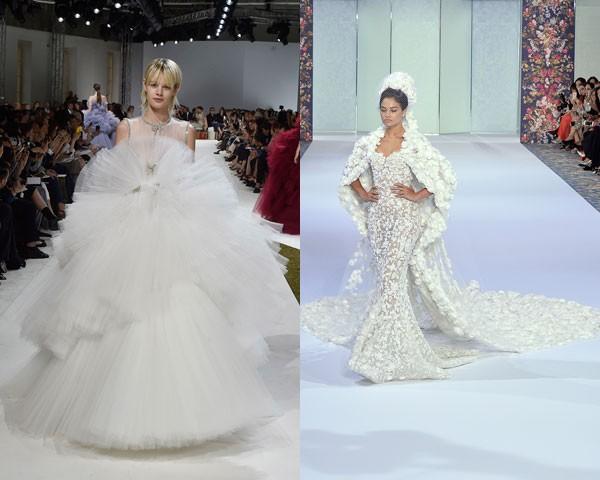 As noivas de Giambattista Valli e Ralph & Russo (Foto: Getty Images)