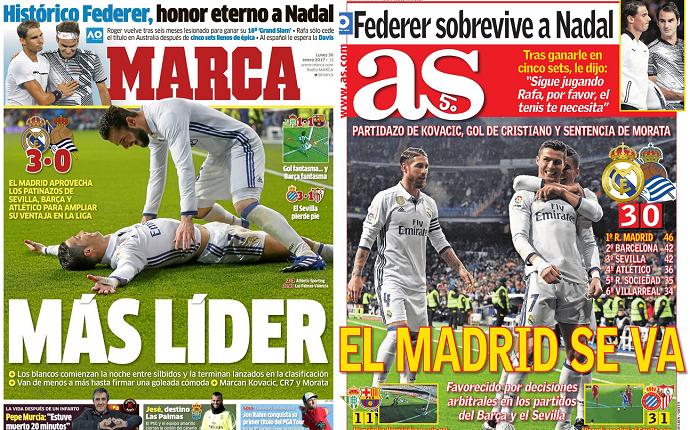 Real Madrid capas jornais