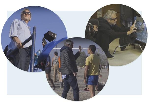 Alfonso Cuarón nos bastidores de Roma (Foto: Divulgação)