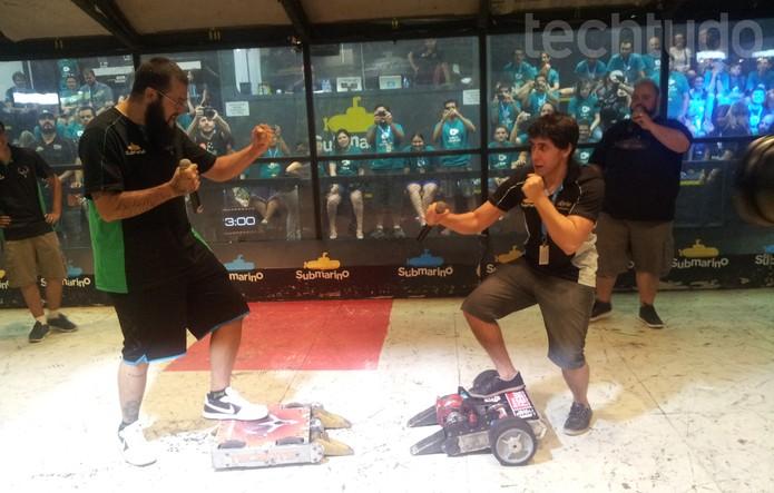 Vlogueiros como Cauê Moura e Felipe Castanhari participaram do evento  (Foto:  Techtudo/Paulo Vasconcellos)