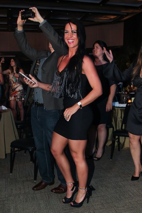 Graciele Lacerda em festa em Uberlândia, Minas Gerais (Foto: Manuela Scarpa/ Brazil News)