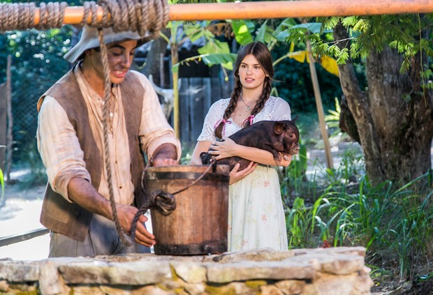 Anderson Di Rizzi e Camila Queiroz (Foto: Paulo Belote/Globo)