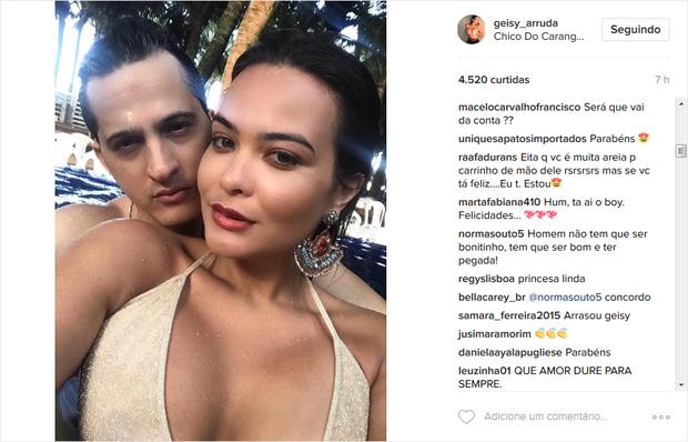 Fãs de Geisy Arruda comentam possível romance com Ramon Oliveira (Foto: Reprodução/Instagram)