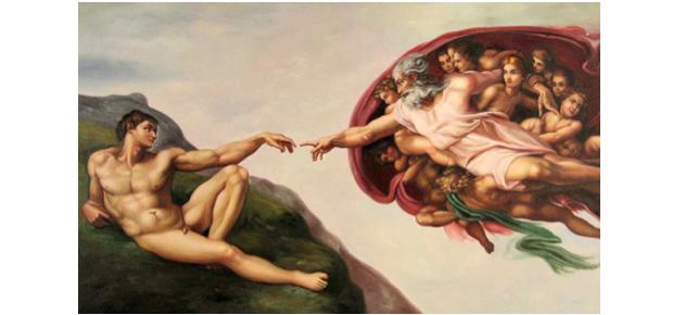 A criação de Adão. Capela Sistina (Foto: Michelangelo/Reprodução)