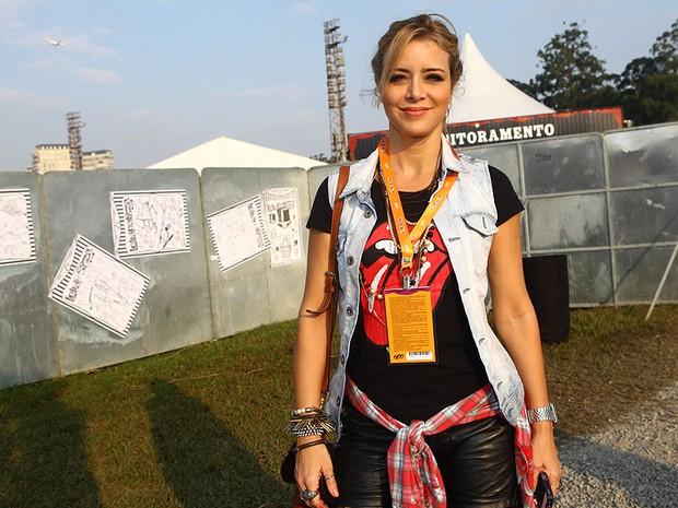 Christine Fernandes no Lollapalooza (Foto: Iwi Onodera / EGO)