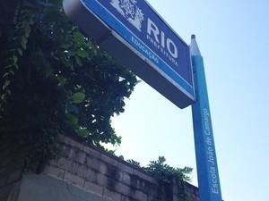 Aulas na escola municipal João de Camargo estão normais (Foto: Isabela Marinho/G1)